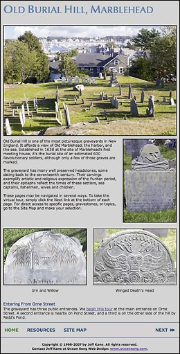 Old Burial Hill Home Page.